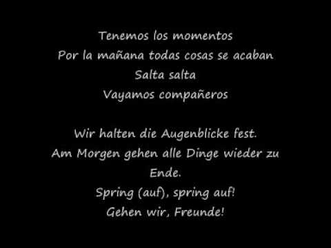 Vayamos Companeros Spanisch-Deutsch Lyrics