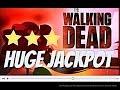 *** HUGE JACKPOT*** The WALKING DEAD slot machine MAX BET 75 Spins Bonus WIN!