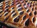 Вкусный слоеный пирог с черникой