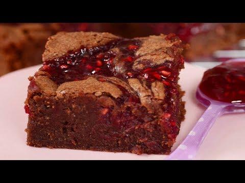 Raspberry Brownies Recipe Demonstration - Joyofbaking.com