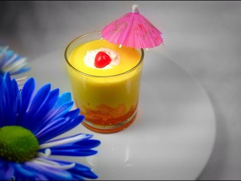 Mango Souffle Recipe / How To Make Egg less Mango Souffle Home made by ( HUMA IN THE KITCHEN) - UC6UItdV_1eXF84GsJTfcVFw