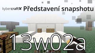 """[Kybercraft] Minecraft - Představení Snapshotu - 13w02a """"Quartz bloky"""" (CZ)"""