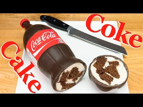 Coca Cola Bottle Cake (Coke Bottle Cake)  from Cookies, Cupcakes and Cardio