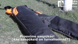 Kas saepüksid kaitsevad ka päriselt jalga mootorsae keti eest?