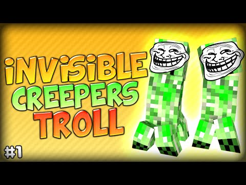 HILARIOUS INVISIBLE CREEPER TROLL MADNESS - Minecraft Modded Parkour Anti City 2 (Starminer Mod)