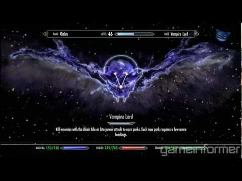 Skyrim Dawnguard : Vampire & Werewolf Perk Tree & More