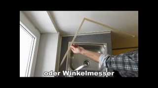 Schmiege Arbeitsplatte.MP4 - YouTube | {Küchenplatte abschlussleiste 32}