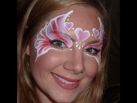 Valentine Princess Face Painting