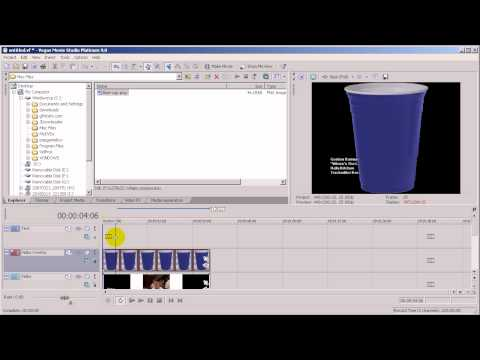 Sony Vegas Tutorial - Overlaying An Image On A Video