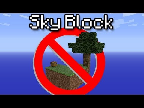 [Minecraft] Sky Block - How NOT to survive!