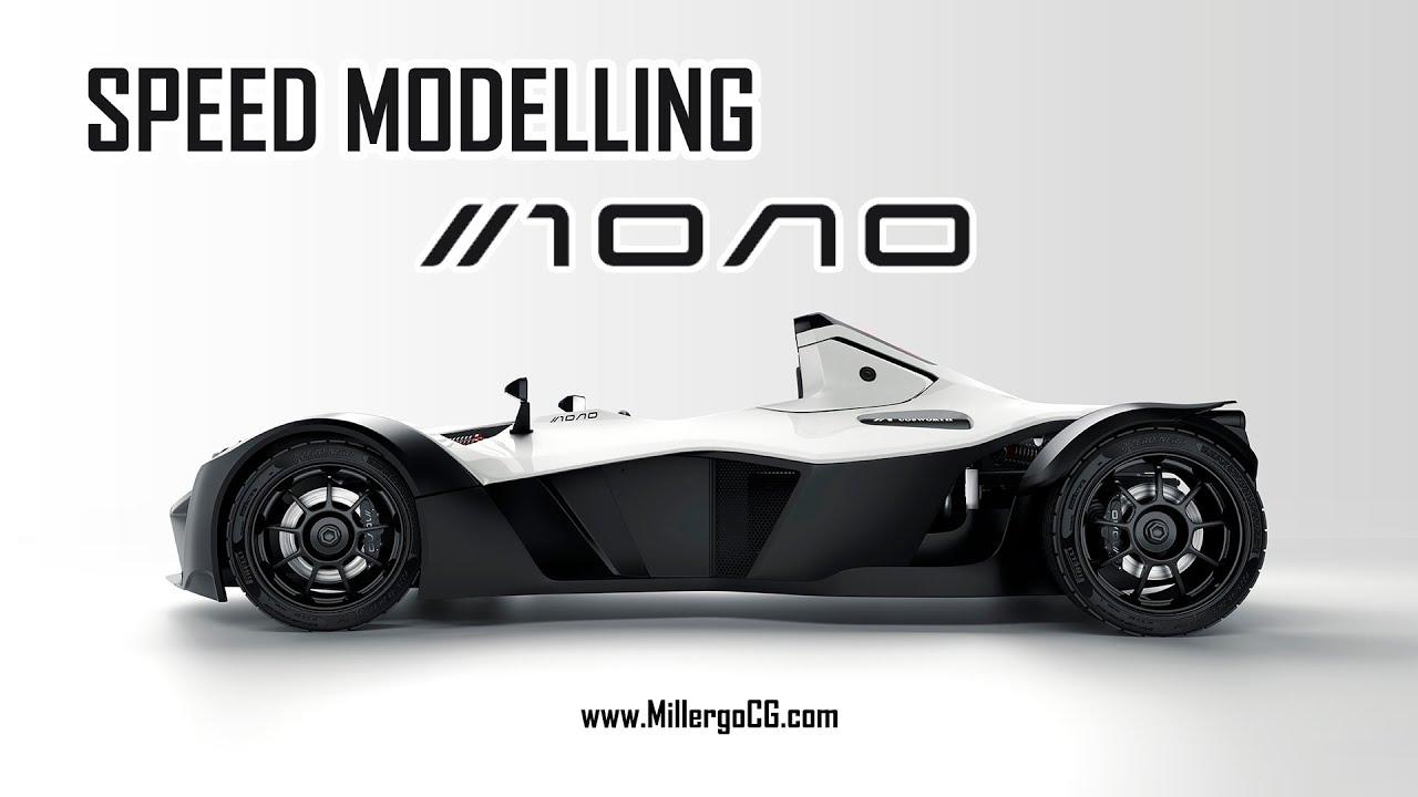 BAC Mono 3D Modelling Timelapse - Millergo