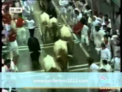Pamplona día 10 de julio de 1910 Cuarto encierro de San Fermin 2010  Encierro 10 07 2010