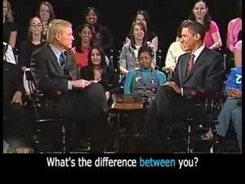 Barack Obama on Hardball at West Chester U. 1/5 - Captioned