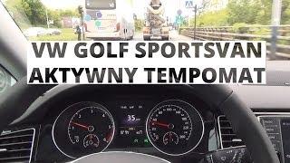Volkswagen Golf Sportsvan - działanie aktywnego tempomatu