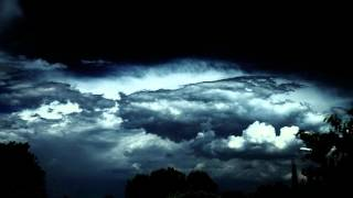 Cool Cumulus - Timelapse Desert Thunderstorm Clouds in Extreme Contrast V11864