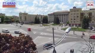 Соборная площадь Житомира - вид с высоты