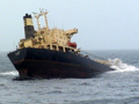 Caught on camera: Ship sinks near Mumbai
