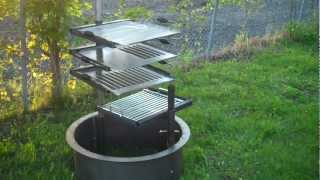 HigleyFirePits.com   Fire Pit Cooking Grate Selection   YouTube