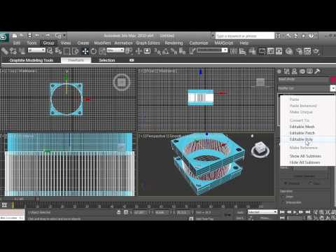 3D Modeling - Computer Fan Tutorial - Beginners - 3ds max - pt 7 of 16