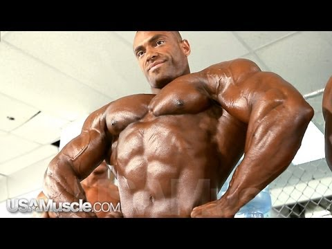 2012 NPC Nationals Men's Bodybuilding Pump Room Part 2