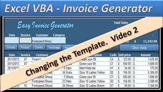 Invoice Template For Services Excel Excel Vba  Invoice Generator  Microsoft Excel   Part   Receipt For Child Care Services Word with Software Receipt Pdf Excel Vba  Invoice Generator  Microsoft Excel   Part   Youtube Apcoa Parking Receipt Excel