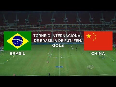 Gols - Brasil 4 x 1 China - Torneio Futebol Feminino Brasília - 18/12/2014