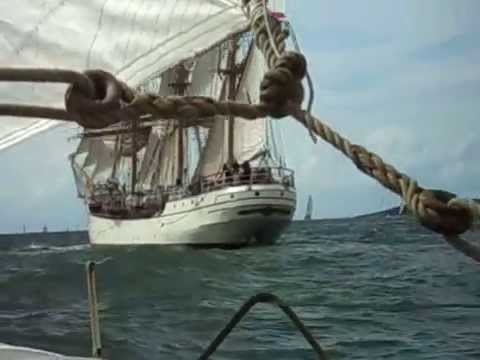 Sail Parade Halmstad Tall Ships Races 2011 aboard Astrid Finne...
