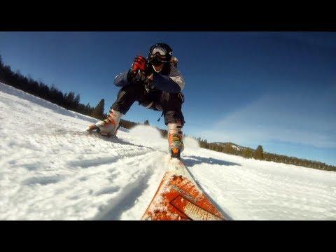 Napadlo by vás takhle lyžovat? Šílené :D