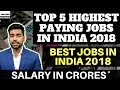 Highest Paying Jobs in India 2018 | Best Jobs in India | Top 5 Jobs in India | Best Career | Hindi