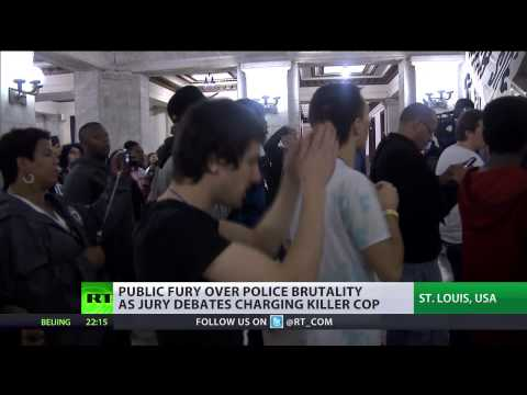 Fight Back': Protesters storm (St  Louis) City Hall amid nationwide rallies  10/14/14