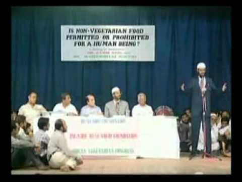 Is Non Veg?etarian Food Permitted? or Prohibited? for a Human Being Dr.Zakir Naik vs Mr.Rashmibhai