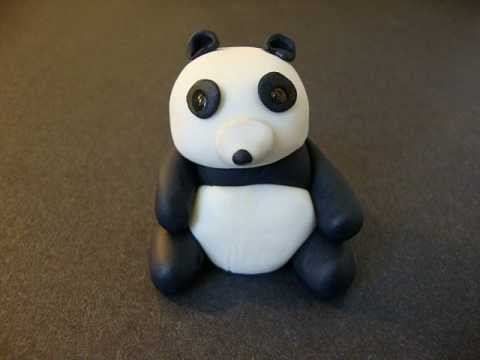 How to make Panda Baby Bear Easy to make topper for cakes cupcakes