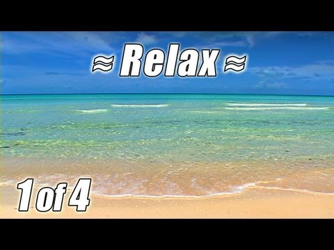 RELAXATION VIDEO #1 BAHAMAS BEACHES Best Relaxing Ocean Sounds Waves Beach noises to Sleep