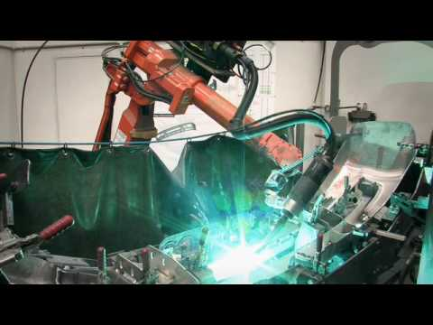 ABB Robotics - Welding, cutting & polishing aluminium bumper bars