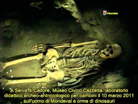 Museo Cazzetta, a well preserved skeleton of a man lived more than 8 thousend years ago.
