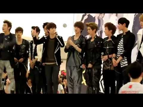 [HD] EXO - Ending Speech at Yeongdeungpo Fansign 120525 - Fancam