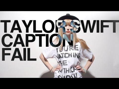 Taylor Swift YouTube caption fail