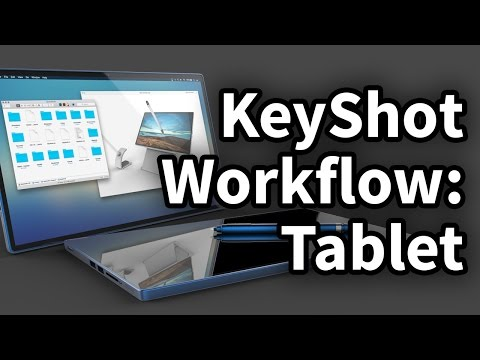 KeyShot Workflow 01 - Tablet & Stylus
