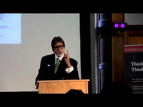 "Amitabh Bachchan reciting ""Madhushala"" in Oxford - Distinguished Ford Lecture"