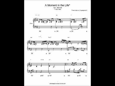 A Moment in the Life Part 1 Dax Johnson Piano Sheet Music