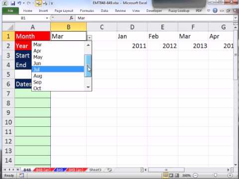 Excel Magic Trick 848: Create List of Dates For Month With Formula