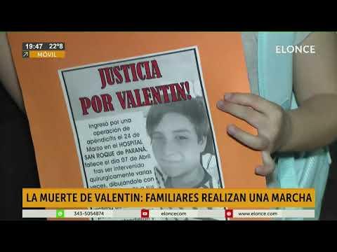 Marcharon para pedir justicia por Valentín, el chico que falleció tras cirugía