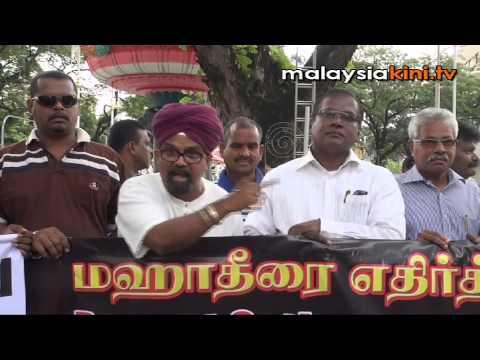 Activists protest against Dr M's RCI proposal