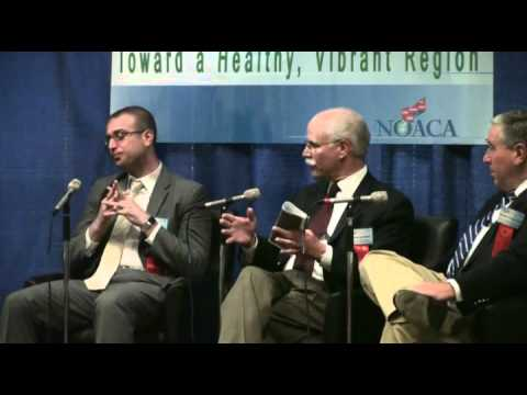 Panel Discussion on Northeast Ohio Sustainable Communities Consortium (NEOSCC), regionalism, and economic challenges. Moderator: Dan Moulthrop (Curator of Conversation, Civic Commons) Panelists: Hunter Morrison (Director, NEOSCC), Jason Segedy (Vice Chairman, NEOSCC), Edward Hill, Ph.D. (Dean &amp; Professor, Maxine Goodman Levin College of Urban Affairs, Cleveland State University)
