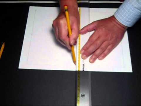 Squadratura del foglio con cornice, mediane e intestazione