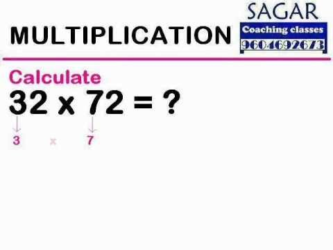 (Maths Tricks) Multiplication : 32 x 72 = ? - Sagar Coaching Classes