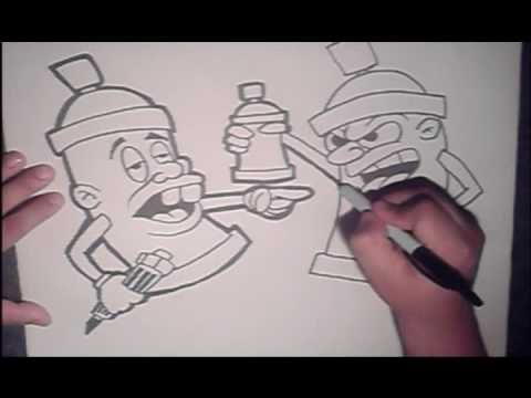Learn to draw spraycan character   (HQ)