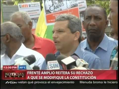 Fidel Santana reitera su rechazo a la modificación…