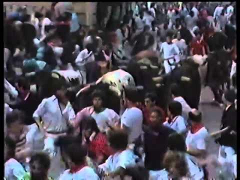 Encierro San Fermin Pamplona del día 14 7 1986
