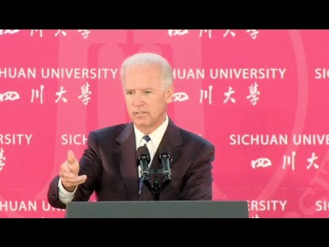 Vice President Joe Biden Speaks on U.S. - China Relations
